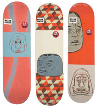 Barry McGee X Baker Skateboards Theotis Barry Deck, Dollin Barry Deck, and Spanky Barry D