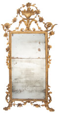 Furniture, A Continental Carved Giltwood Mirror, late 18th century. 79 x 35 x 3-1/2 inches (200.7 x 88.9 x 8.9 cm). Property from t...