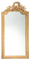 Decorative Accessories, A French Giltwood Mirror, 19th century . 66-1/2 x 36-1/2 x 5 inches (168.9 x 92.7 x 12.7 cm). Property from the Estate o...