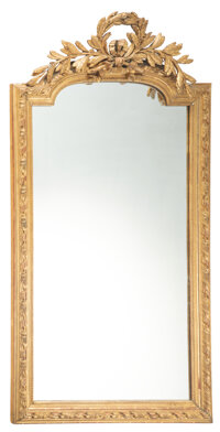A French Giltwood Mirror, 19th century 66-1/2 x 36-1/2 x 5 inches (168.9 x 92.7 x 12.7 cm)  Property from the Estate o...