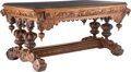 Furniture, A French Renaissance Revival Carved Oak Library Desk. 31-1/4 x 60 x 40 inches (79.4 x 152.4 x 101.6 cm). Property from t...