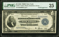 Gutter Fold on Face at Right Error Fr. 751 $2 1918 Federal Reserve Bank Note PMG Very Fine 25