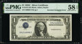 Error Notes:Inverted Third Printings, Inverted Third Printing Error Fr. 1612 $1 1935C Silver Certificate. PMG Choice About Unc 58 EPQ.. ...
