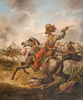 Paintings, Albert Muhlig (German, 1862-1909). French-Algerian battle paintings after Horace Vernet and Victor-Jean Vincent Adam (four... (Total: 4 Items)