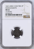 1662 Colonials NGC MS62 Oak Tree Twopence, Large 2,...(PCGS# 45356)
