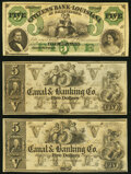 Obsoletes By State:Louisiana, New Orleans, LA- Canal & Banking Co. $5 18__ Remainder Crisp Uncirculated (2);. Shreveport, LA- Citizens' Bank of Loui... (Total: 3 notes)