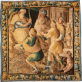 Textiles, A Flemish Wool Tapestry, 18th century. 99 x 97 inches (251.5 x 246.4 cm). Property from the Collection of John Robert Cl...