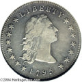 Early Dollars: , 1795 Flowing Hair, Two Leaves VF30 NGC. ...