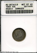 Coins of Hawaii: , 1883 Hawaii Ten Cents XF40--Damaged-- ANACS. AU ...