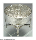 Silver Holloware, Continental:Holloware, A CONTINENTAL SILVER BOX ON STAND