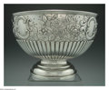 Silver Holloware, English:Holloware, A VICTORIAN SILVER ROSEWATER BOWL