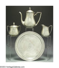Silver Holloware, American:Tea Sets, AN AMERICAN SILVER ARTS AND CRAFTS COFFEE SERVICE