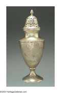 Silver Holloware, American:Other , AN AMERICAN SILVER DOLORES PATTERN SPICE CASTER