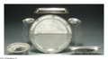 Silver & Vertu:Hollowware, AN ASSORTED GROUP OF SIX AMERICAN SILVER TRAYS. Various makers, c.1900. The group consisting of an oval tray marked Shreve... (Total: 6 Item)