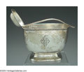 Silver Holloware, American:Sauce Boats, AN AMERICAN SILVER ARTS AND CRAFTS SAUCE BOAT AND LADLE