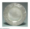 Silver Holloware, American:Plates, AN AMERICAN SILVER ACID ETCHED CHILD'S PLATE