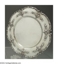 Silver Holloware, American:Plates, AN AMERICAN SILVER AMERICAN BEAUTY PATTERN CHARGER