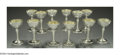 Silver & Vertu:Hollowware, A MATCHED SET OF TWELVE SILVER SHERRY GLASSES. Mark of Gorham, Providence, Rhode Island, 1929. Unadorned with gold wash in... (Total: 12 Item)