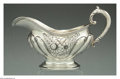 Silver Holloware, American:Sauce Boats, AN AMERICAN SILVER FLORAL MOTIF SAUCE BOAT