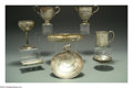 Silver Holloware, American:Other , A TWELVE PIECE LOT OF AMERICAN SILVER OBJECTS