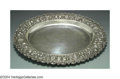 Silver Holloware, American:Trays, AN AMERICAN SILVER REPOUSSE MEAT PLATTER