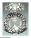 Silver Holloware, American:Bowls, A PAIR OF AMERICAN SILVER STRAWBERRY MOTIF BOWLS