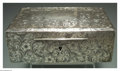 Silver Holloware, American:Boxes, AN AMERICAN SILVER JEWELRY BOX