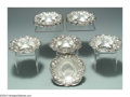 Silver Holloware, American:Bowls, A SET OF ELEVEN AMERICAN SILVER STRAWBERRY MOTIF FINGER ... (11 )