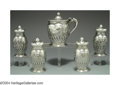 Silver Holloware, American:Other , AN ASSEMBLED AMERICAN SILVER CONDIMENT SET