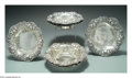 Silver & Vertu:Hollowware, A GROUP OF EIGHT AMERICAN SILVER STRAWBERRY MOTIF BOWLS. Mark of Woodside, New York, c.1900. The undulating rims with four... (Total: 8 Item)