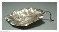 Silver Holloware, American:Bowls, AN AMERICAN SILVER AESTHETIC MOVEMENT LEAF-FORM DISH