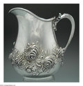 Silver Holloware, American:Water Pitchers, AN AMERICAN SILVER REPOUSSE WATER PITCHER