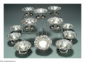 Silver Holloware, American:Bowls, A GROUP OF TWELVE AMERICAN SILVER STRAWBERRY MOTIF BOWLS ON ... (12)