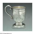 Silver Holloware, American:Coin Silver, AN ENGRAVED AMERICAN SILVER CUP