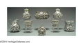 Silver Holloware, American:Other , AN ASSORTMENT OF THIRTEEN FLORAL REPOUSSE PIECES