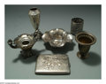 Silver Smalls:Other , AN ASSORTED GROUP OF AMERICAN SILVER AND SILVER PLATE SMALLS