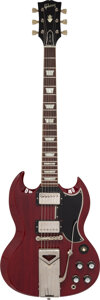 Musical Instruments:Electric Guitars, 1963 Gibson Les Paul SG Cherry Solid Body Electric Guitar,...