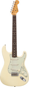 Musical Instruments:Electric Guitars, 1962 Fender Stratocaster Olympic White Solid Body Electric...