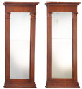 Furniture, A Pair of Large English Neoclassical Mahogany Mirrors, 19th century . 84-1/4 x 37 x 5 inches (214.0 x 94.0 x 12.7 cm) (each)... (Total: 2 Items)