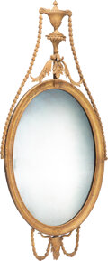 Furniture, A Continental Carved Giltwood Mirror, 19th century. 64 x 30-1/2 x 2-1/2 inches (162.6 x 77.5 x 6.4 cm). Property from th...