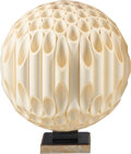 Lighting, Rougier (Canadian, 20th Century). Sphere Table Lamp, circa 1975. PVC, acrylic, chrome-plated brass. 19 x 16-1/2 inches (...