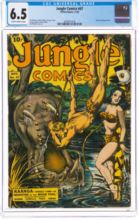Jungle Comics #47 (Fiction House, 1943) CGC FN+ 6.5 Slightly brittle pages