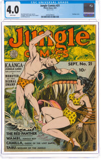 Jungle Comics #21 (Fiction House, 1941) CGC VG 4.0 White pages