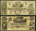 Obsoletes By State:Louisiana, New Orleans, LA- Canal & Banking Co. $5 18__ Remainder Crisp Uncirculated;. New Orleans, LA- Canal Bank $100 18__ Re... (Total: 2 notes)