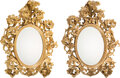 Decorative Accessories, A Pair of Rococo-Style Carved Giltwood mirrors, Italy, 19th century . 58 x 47 x 7 inches (147.3 x 119.4 x 17.8 cm) (each). ... (Total: 2 Items)