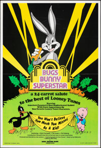 "Bugs Bunny Superstar & Other Lot (Warner Bros., 1976). Folded, Overall: Fine/Very Fine. One Sheet (24.75"" X 36..."