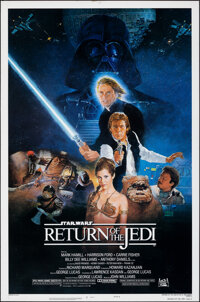 """Return of the Jedi (20th Century Fox, 1983). Rolled, Very Fine-. One Sheet (27"""" X 41"""") White Title Variant, NS..."""