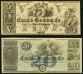 Obsoletes By State:Louisiana, New Orleans, LA- Canal & Banking Co. $5; 20 18__ G10; G32a Remainders Crisp Uncirculated.. ... (Total: 2 notes)