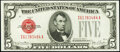 Small Size:Legal Tender Notes, Fr. 1531 $5 1928F Narrow Legal Tender Note. Choice Crisp Uncirculated.. ...