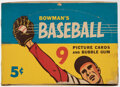 Baseball Cards:Unopened Packs/Display Boxes, 1955 Bowman Baseball Empty 5-Cent Display Box Plus Wrapper. ...